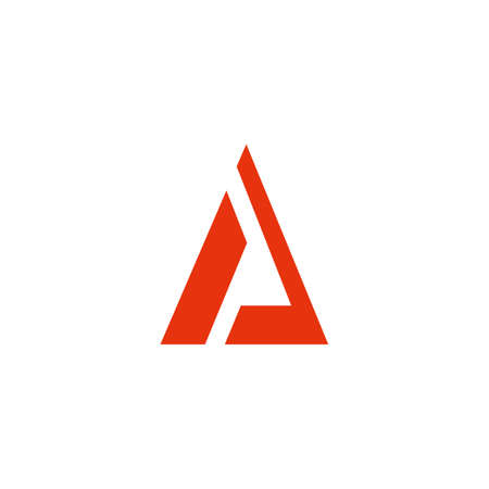 triangle simple flat geometric logo vector