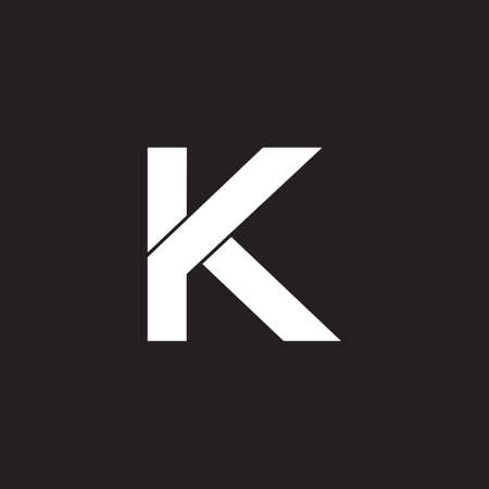 letter k simple overlapping geometric line symbol logo vector