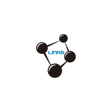 vector of links dots point simple strong connection symbol logo Ilustração