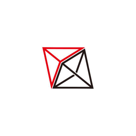vector of 3d arrows triangle line geometric logo