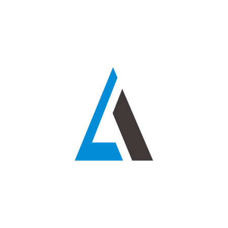 letter la triangle geometric simple flat logo vector