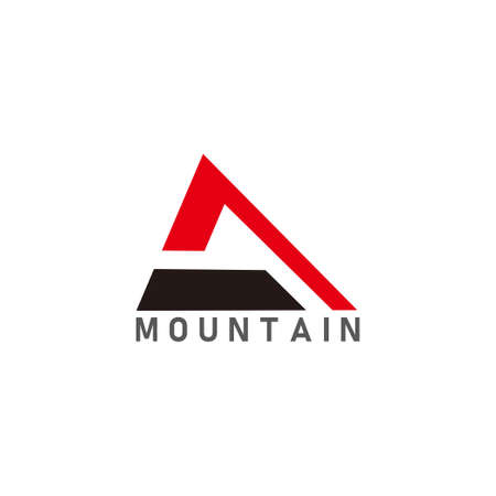 vector of abstract triangle mountain geometric logo Ilustração