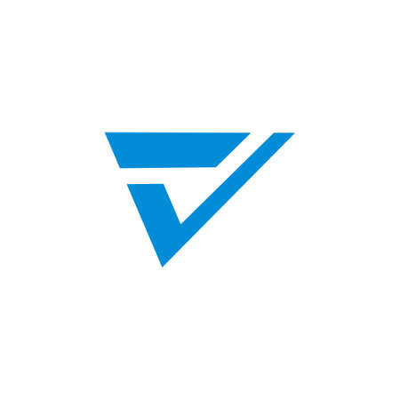 vector of letter v check mark simple geometric logo