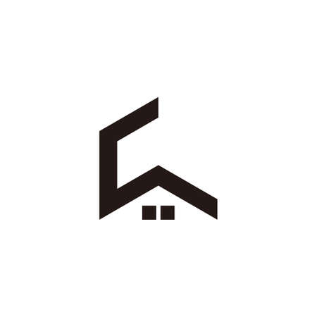 vector of abstract letter c roof home geometric logo