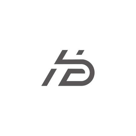 letter hb lines art geometric concept vector