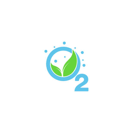 leaf oxygen source symbol vector