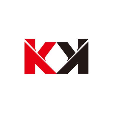 letter m k simple geometric arrow logo vector