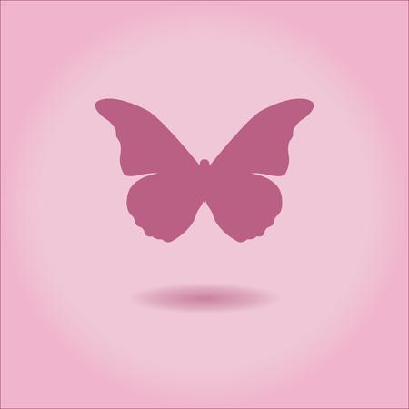 Butterfly Icon vector illustratie in roze kleuren Stockfoto - 52756379