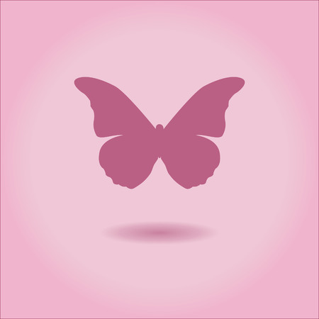 Butterfly Icon vector illustration in pink colors