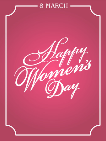 Typographical background for your love. Happy Womens Day. Ilustração