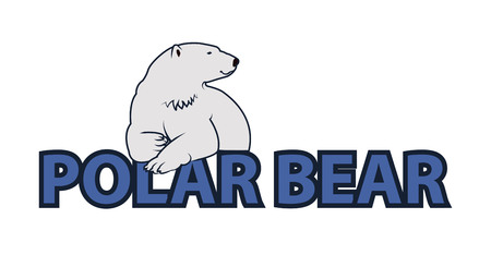 polar bear: White Polar bear icon - vector illustration for you.