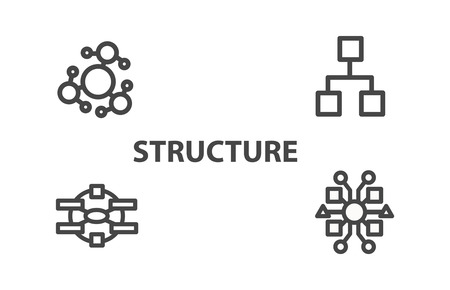 distribute: Structure icon from Business Bicolor Set. This flat vector symbol uses gray color, rounded angles, and isolated on a white background. Illustration