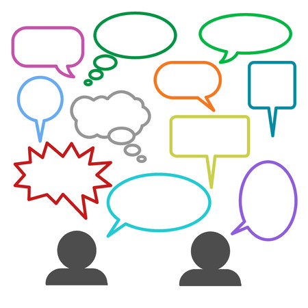 Blank empty speech bubbles icons set great for any use.
