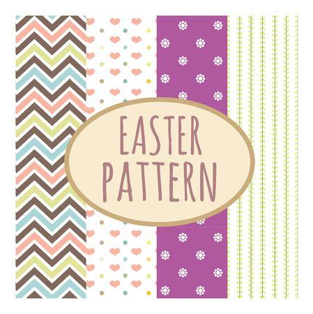 cute pastel stripes or chevron seamless pattern