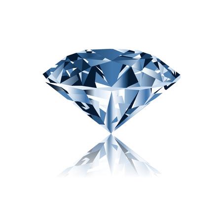 Diamond isolated on white photo-realistic illustration