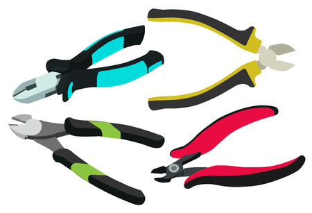 Electrical Cutting Plier Jewelry Wire Cable Cutter Side Snips Flush Pliers Ilustração