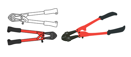 heavy duty: Hand tools HEAVY DUTY MOLLY HEAD BOLT CUTTER pliers Illustration