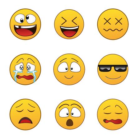 Set of Emoticons. Set of Emoji. Stock Illustratie