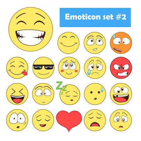 Set van Emoticons. Set van Emoji. Stockfoto - 56721818