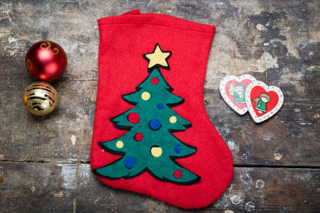 decore: christmas sock and decorations