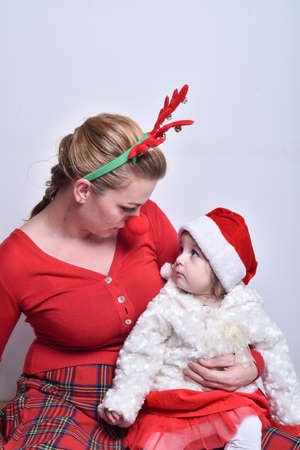 douther: little santa and her helper