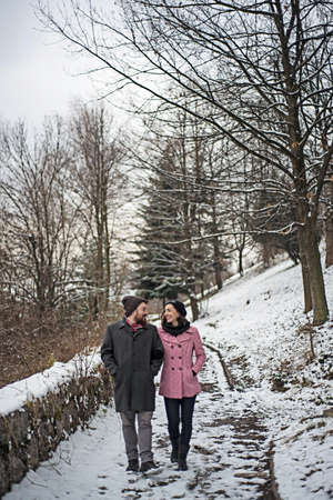 filings: couple walking in park