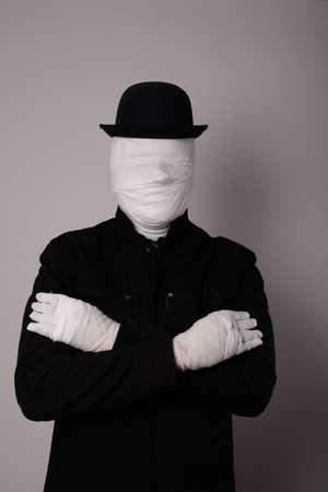 portrait of faceless man