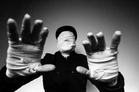 faceless: faceless man reaching for you