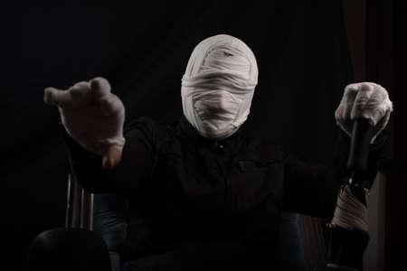 faceless: spooky faceless man Stock Photo