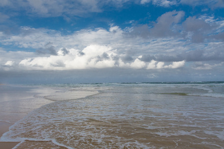 fraser island: Magnificent view of the coast of Fraser Island - largest sand island in the world, Queensland, Australia