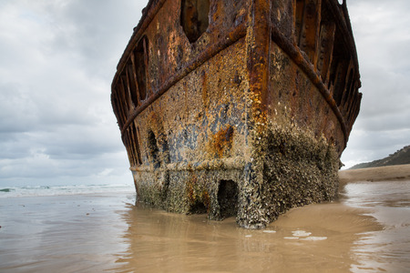 fraser island: Historic SS Maheno shipwreck, Fraser Island - Australia