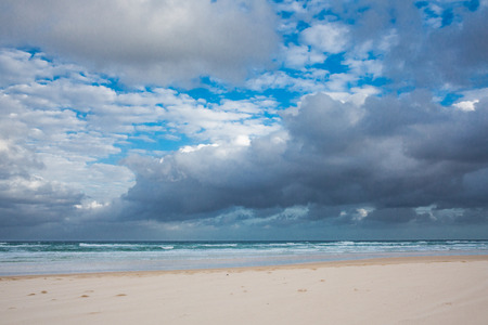fraser: Magnificent view of the coast of Fraser Island - largest sand island in the world, Queensland, Australia