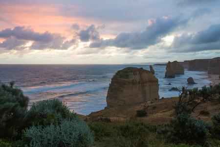Twelve Apostles. Great Ocean Road. Australia on sunset Stock Photo
