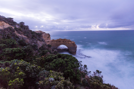 The Arch rock formation in great ocean road.Australia