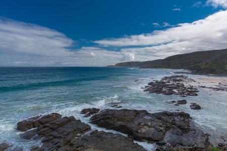 Coast line along Great Ocean Road, Australia Stock Photo
