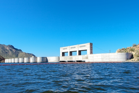 A dam which is used to form Bartlett Lake in Arizona.