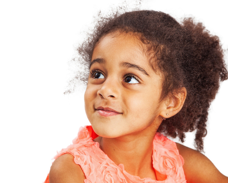 and four of the year: Cute mixed race four year old