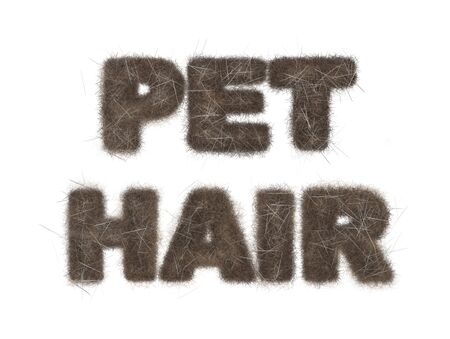 loose: Text reading Pet Hair with illustration of loose fur