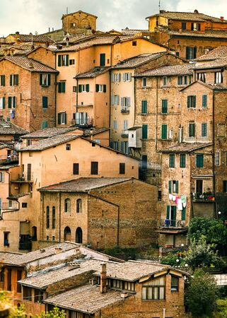 Apartment home buildings in Siena, Italy Stock Photo
