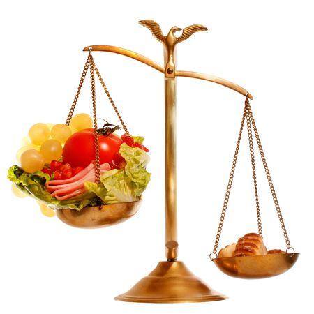 imbalance:  Imbalance food scale  Stock Photo