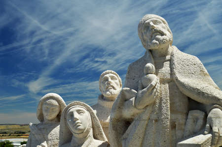 impressive: Impressive group of people made of stone