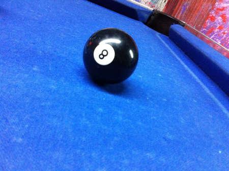 eight ball: Eight ball billiard Stock Photo