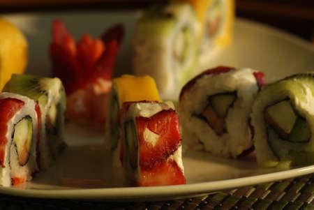Plato de sushi delicioso Foto de archivo - 25891752
