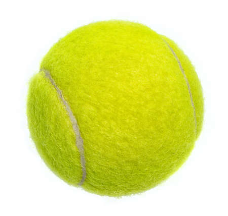 New tennis ball isolated on white background Stock Photo