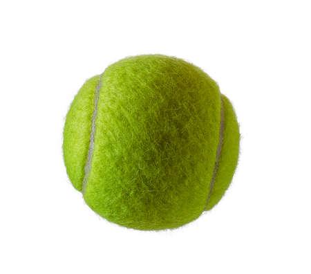 白い背景で隔離の新しいテニス ボール