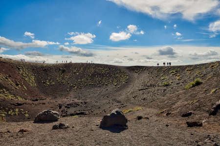 View of Silvestri crater. Etna, Sicily, Catania