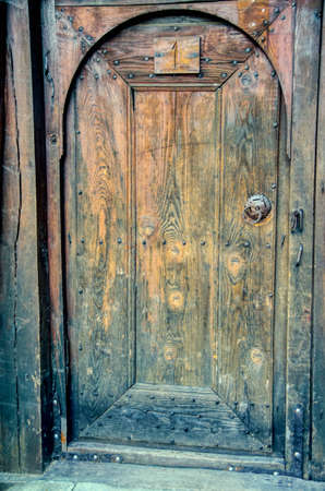 Old doors knockers and locks in Koprivshtica town, Bulgaria