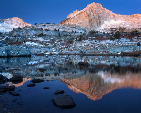 North peak is in Yosemite national park towards the Lee Vining direction. Stock Photo