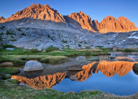 sierras: Dusy basin runs high in the Eastern sierras, california Stock Photo