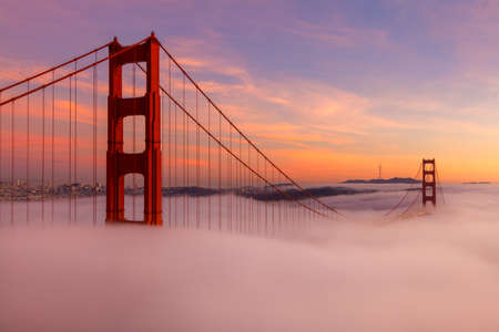 The Golden Gate Bridge is a popuar tourist destination in San Francisco California.